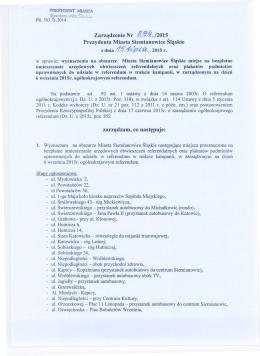 wyznaczenia na obszarze Miasta Siemianowice Śląskie miejsc na