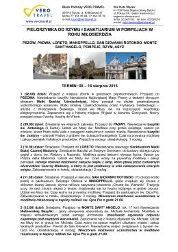 Włochy – Rzym i Pompeje w Roku Miłosierdzia