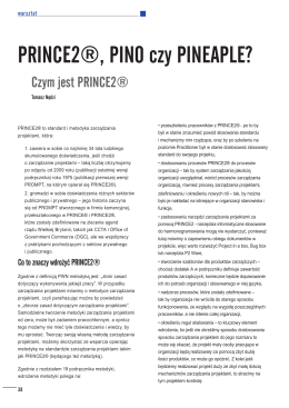 PRINCE2®, PINO czy PINEAPLE?