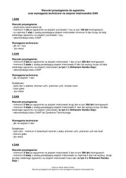 Warunki przystąpienia do egzaminu oraz wymagania techniczne na