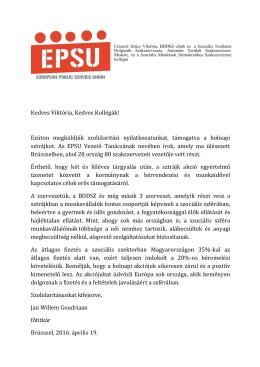 EPSU - Bölcsődei Dolgozók Demokratikus Szakszervezete