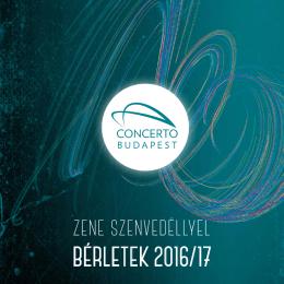 bérletek 2o16/17 - Concerto Budapest