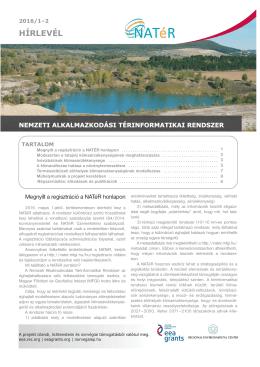 hírlevél - NATéR - Magyar Földtani és Geofizikai Intézet