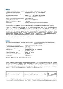 K009039 Obchodné meno/Názov/Meno a priezvisko dlżníka