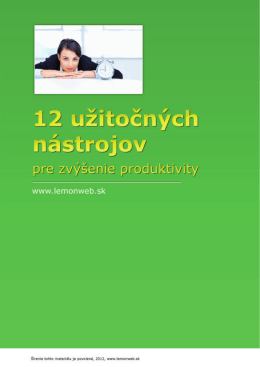 12 užitočných nástrojov na zvýšenie produktivity