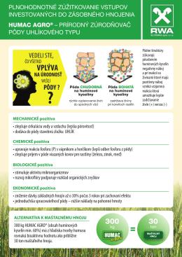 HUMAC AGRO - prírodný zúrodňovač pôdy uhlíkového typu