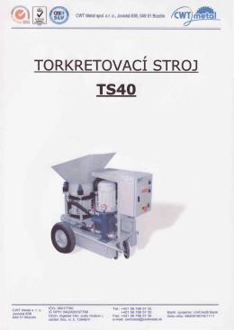 výroba torkretovacieho stroja