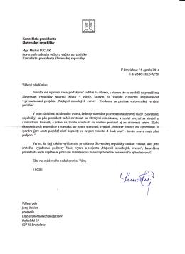 Kanceliria prezidenta Slovenskej republiky Andreia Kisku - v