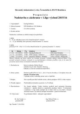 1.liga mužov skupina východ - Baráž o záchranu v 1.lige