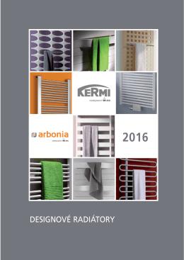 KERMI - ARBONIA Cenník designové radiátory 2016