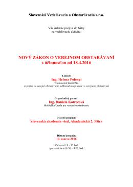 Program a prihláška na stiahnutie
