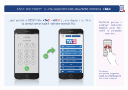 OSSN Star Phone® - služba Vizuálneho komunikačného