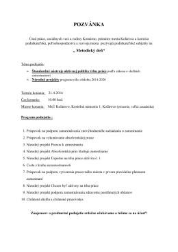 Program - Kolárovo