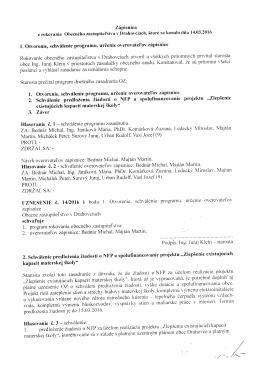 Zápisnica z riadneho rokovania obecného