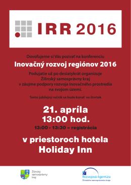 21. apríla Holiday Inn