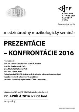 prezentácie – konfrontácie 2016