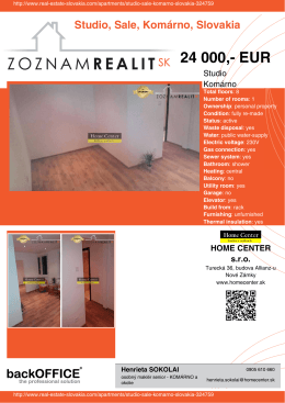 24 000,- EUR - Real Estate Slovakia