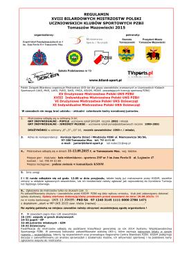 regulamin mistrzostw uczniowskich klubów sportowych