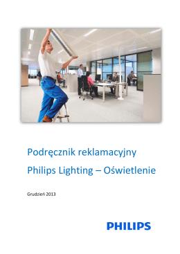 Podręcznik reklamacyjny Philips Lighting – Oświetlenie