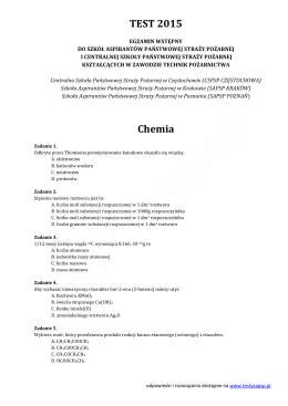 Test egzaminacyjny do SAPSP/CSPSP 2015
