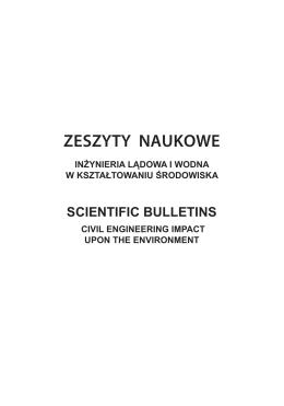 Zeszyty Naukowe Inżynierii Lądowej i Wodnej w