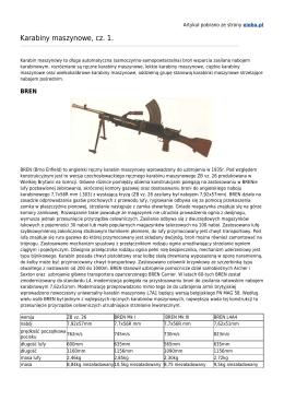 Karabiny maszynowe, cz. 1.