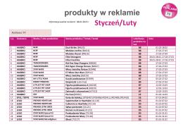 Ulotka - reklama TV STYCZEŃ LUTY KRK akt. 8.1.2016