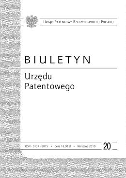 bup20_2010 - Wyszukiwarka Urzędu Patentowego
