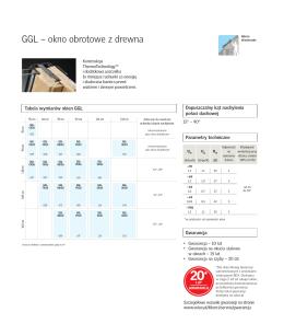 GGL – okno obrotowe z drewna