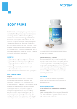 BODY PRIME - Synergy WorldWide