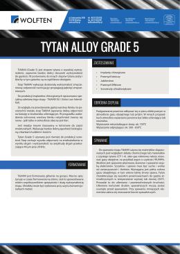 TYTAN ALLOY GRADE 5