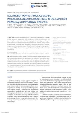 Rola pRobiotyków w stymulacji układu