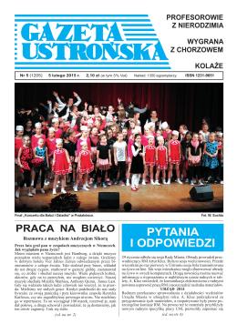 5/2015 - Archiwum Gazety Ustrońskiej