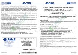 Instrukcja montażu reduktora Drago Sport