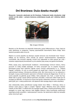 Dni Braniewa: Duża dawka muzyki