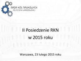 II Posiedzenie - 23.02.2015 r.