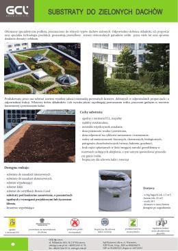 Broszura informacyjna – Substraty do zielonych dachów
