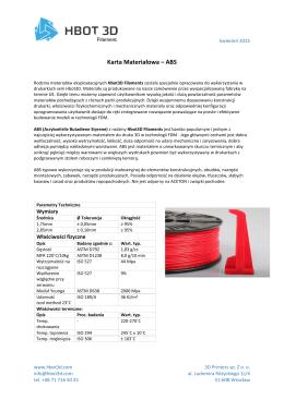 Karta Materiałowa – ABS