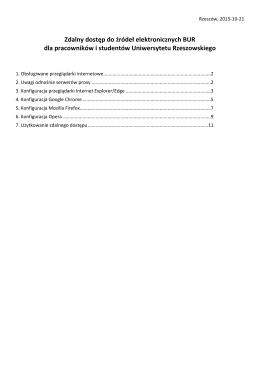 instrukcję konfiguracji przeglądarek internetowych