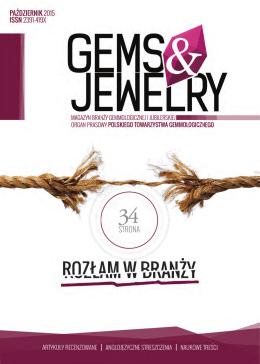 październik 2015.indd - magazyn branży gemmologicznej i jubilerskiej