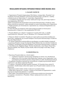 Regulamin Obozu Beana 2015