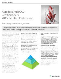 Autodesk AutoCAD: Certified User i 2015 Certified Professional
