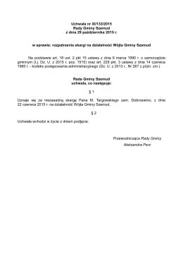 Uchwała Nr XI _ 133 _ 2015