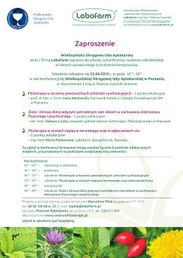 Zaproszenie Labofarm 23.04.2015