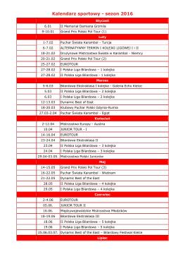 Kalendarz sportowy