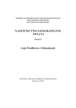 Nazewnictwo geograficzne Świata: Armenia. - tlumacz