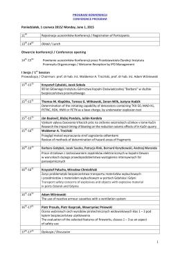 Program IPOEX 2015 - Instytut-Przemysłu