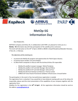 MetOp-SG Information Day