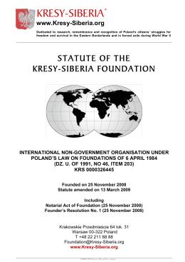 KRESY-SIBERIA (AUSTRALIA) LIMITED - Kresy
