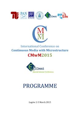 PROGRAMME - CMwM2015